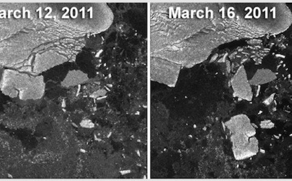 Japan s Tsunami Rips Icebergs