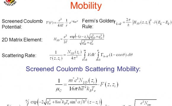 Mobility Screened Coulomb