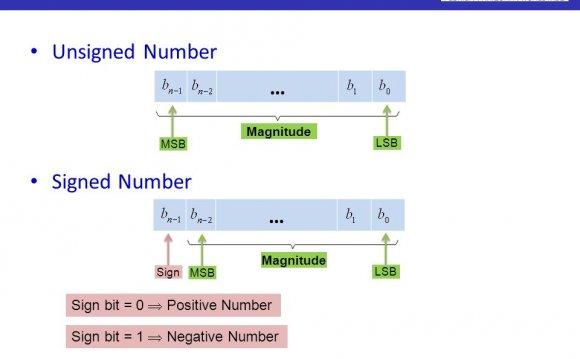 Number Magnitude MSB LSB …