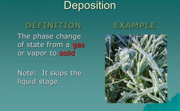Deposition DEFINITION