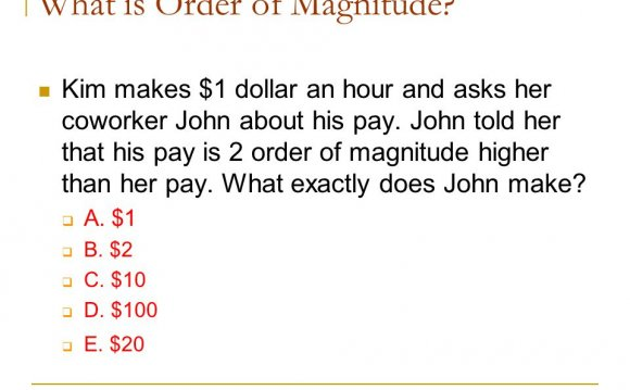 What is Order of Magnitude