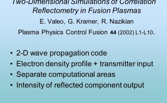 R. Nazikian Plasma Physics