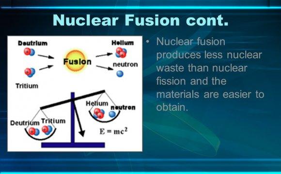 Nuclear fusion produces less