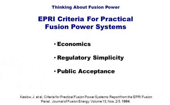Fusion Power Systems 3