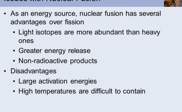 Issues with Nuclear Fusion As
