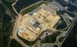 An aerial view of the site. Image courtesy of ITER.