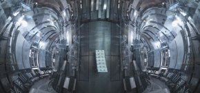 Inside a nuclear fusion reactor