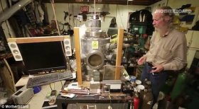 Nuclear bunker: Doug Coulter has built a nuclear fusion reactor in his basement