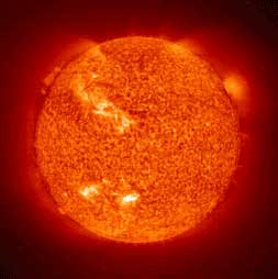 Photo of the sun from space