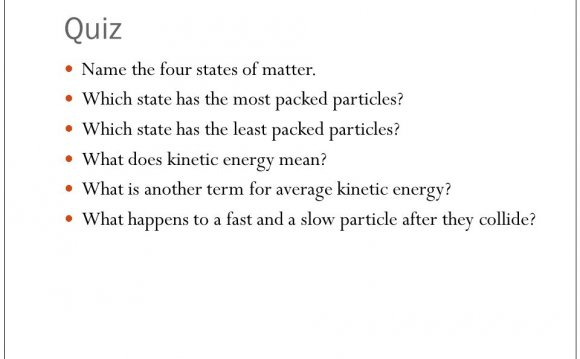 Describe the four states of matter