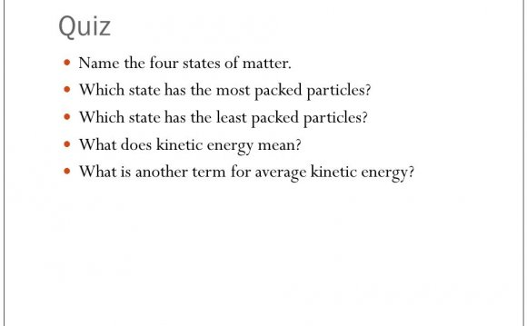 Name the four states of matter