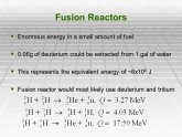 Disadvantages of Fusion Power