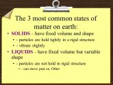 Most common states of matter