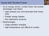 Nuclear fusion as an energy source