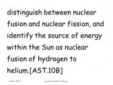 Nuclear fusion Of Hydrogen