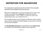 Scientific definition of magnitude
