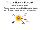 What is nuclear fusion?