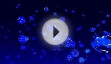 4K UHD Blue Transperent Rotating Plasma Bubbles Particles