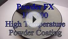 HR 500 Deg c High Temperature Black Powder Coating