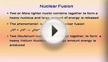 nuclear energy, nuclear fission, nuclear fusion