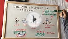 P1 Advantages and disadvantages of renewable energies
