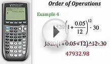TI Calculator Tutorial: Order of Operations