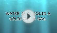 water is a liquid a solid and a gas