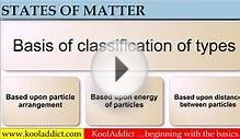 What is Matter and its States? Matter Part - 01 (Science)